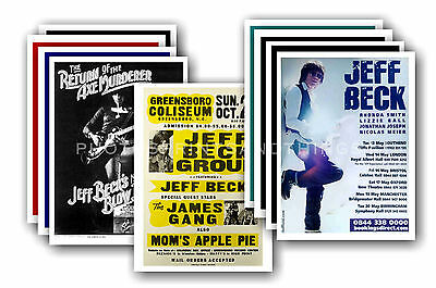 JEFF BECK  - 10 promotional posters - collectable postcard set # 1