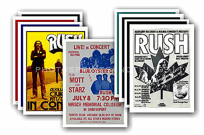 RUSH  - 10 promotional posters - collectable postcard set # 2