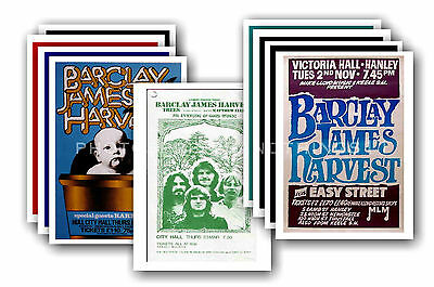 BARCLAY JAMES HARVEST  - 10 promotional posters - collectable postcard set # 1