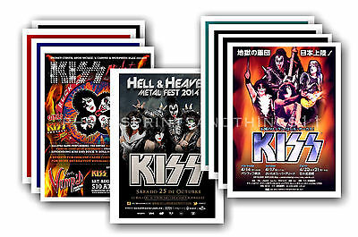 KISS  - 10 promotional posters - collectable postcard set # 2