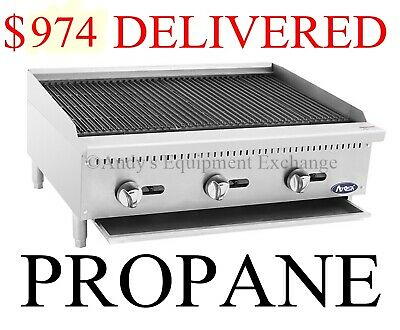 "36"" inch 3 foot wide Radiant Char Broiler Propane LP Gas Table Top (Food Truck)"