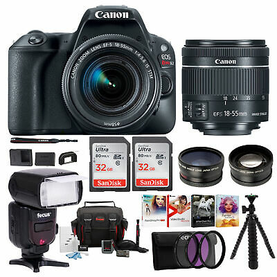 Canon EOS Rebel SL2 SLR Camera w/ 18-55mm f/4 STM Lens + Canon Bag & 64GB Bundl