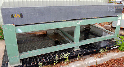 """BIG 5600 POUND 4'x8'x10"""" black granite surface plate on heavy steel stand"""