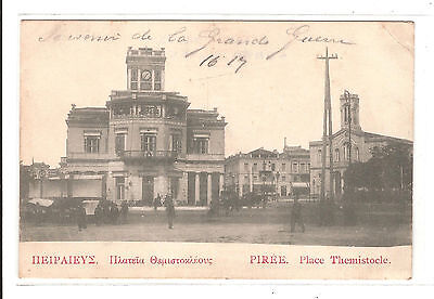 Cpa Le Piree Place Themistocle 1916 Grece Athenes / Greece Athen ' Harbour