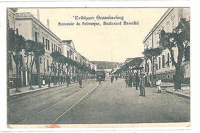 Cpa Salonique Boulevard Hamidie 1916 Grece / Greece