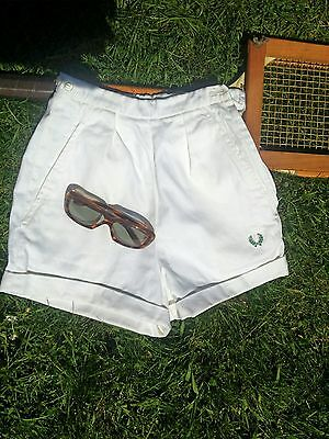 Vintage 50's Fred Perry Sanforized Wimbledon Tennis Beach Shorts.Size 6-Small vg
