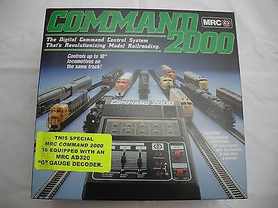 MRC AD140 Command 2000, DCC Digital Control System, AD320 Decoder, Train G Scale