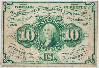 1862 Postage Currency 10 Cents 1st Issue Fr. #1242 Item#J058