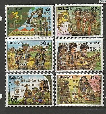 Belize 1982 Belgica Opts on Scouts UM/MNH SG 701/6