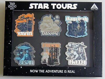 ESL5009. Disney D23 2017 Expo Limited Edition Star Wars Star Tours 6 Pin Box Set