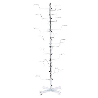 Hat Display Floor Stand Retail Cap Easy Rotating Spinner Chrome Rack Scarves