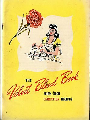 Vintage 1950's Carnation Milk Velvet Blend Book Recipes