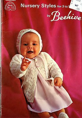 Old 1960's Beehive Knitting Booklet Nursery Styles Sweaters