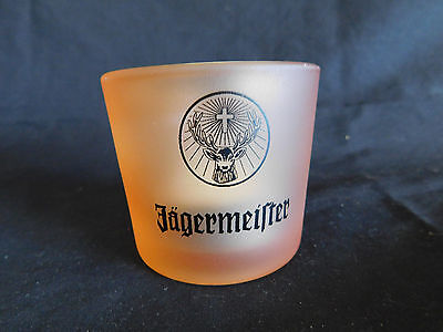 12 = Jagermeister Tea Light Candle Holders Orange With Black Logo New In Box