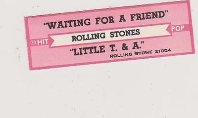Rolling Stones-Waiting For A Friend Jukebox Title Strip