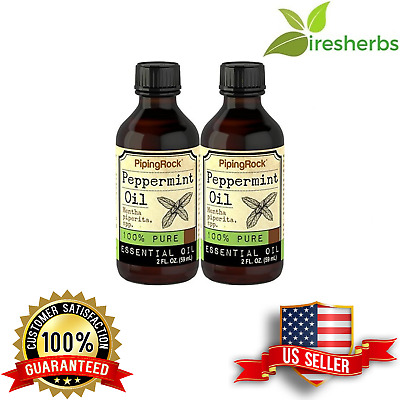 Peppermint 100% Pure Essential Oil Sharpens Attention Vision Relax Calm 4 Fl Oz