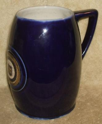Late 1700's Early 1800's Yale College Flow Blue Tankard Mug Stein