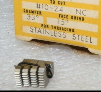"""4 pc set 10-24 NC 33° chamfer 3/16"""" EJ5 4 Die Super Chasers threaders of SS"""