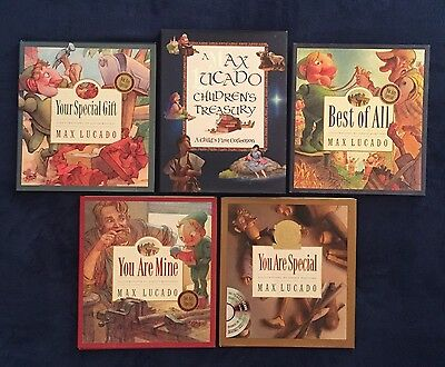 Lot of 5 Children's Picture Books Max Lucado: You Are Special Best of All & More