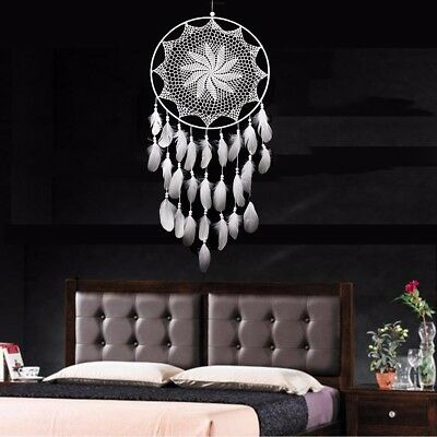 Big Handmade Dream Catcher White Goose Feather Home Wall HangDecor Ornament Gift