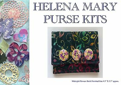 Helena Mary Bag Making Kit Complete Kit - Midnight Flowers Batik Purse