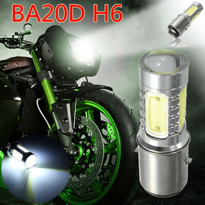BA20D H6 4 COB LED White Bulb Light For Motor Bike Moped Scooter ATV Headlight