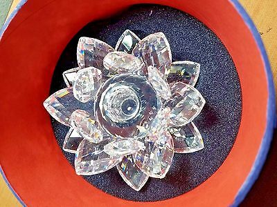 Swarovski Crystal Small Waterlily Candle Holder in Marshall FIeld Box