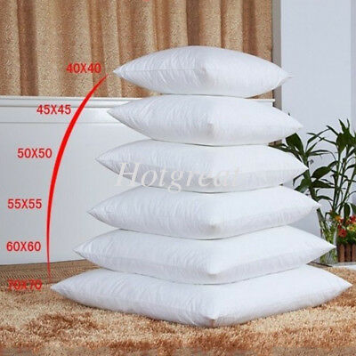 1X Cushion Pillow Inserts Premium Polyester Fibre Filling Square Home 8 Sizes