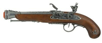 Denix Left-Handed Pirate Flintlock Blunderbuss Replica - Antique Finish