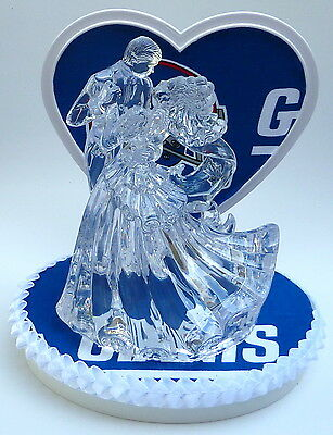 Wedding Cake Topper NY Giants New York Themed Clear Couple Dancing Football Fun