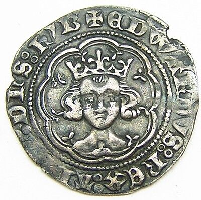 Superb Medieval Silver Half Groat of King Edward III Treaty Period 1361-1369 AD