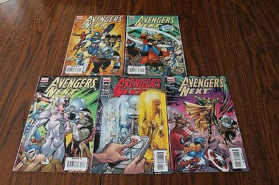 Avengers Next Set #1,2,3,4,5 VF 8.0 2007 Marvel See My Store