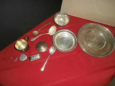 Sterling Silver Lot 666 Grams Wallace S Kirk Towle Reed & Barton Plate Bowl Cup