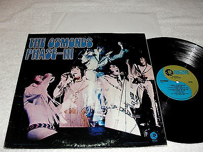 "The Osmonds ""Phase III"" 1971 Pop LP, Nice VG++!, Original MGM, Stereo"