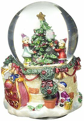 MusicBox Kingdom Musical Snow Globe with Christmas Tree Decorative Box