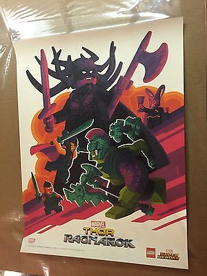 Sdcc 2017 Exclusive Promo Print Tom Whalen Thor Ragnarok Unsigned From Lego Boot
