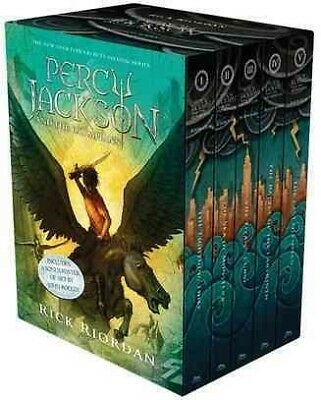 Percy Jackson and the Olympians 1-5. Boxed Set with Poster, Riordan, Rick
