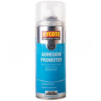 Hycote Adhesion Promoter Clear Primer Spray Paint Galvanised Plastic Metal 400ml
