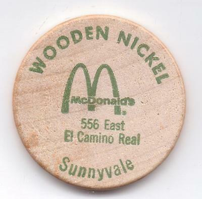 Mcdonald's-Sunnyvale--Wooden Nickel-One 1/2 Inches Width