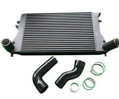 Big Front Mount Alloy Intercooler Kit + Hoses For Audi A3 Vw Golf Passat Seat