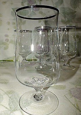LENOX DESIRE platinum trim ICED TEA GOBLET (6 available/ price for one)  all EXC