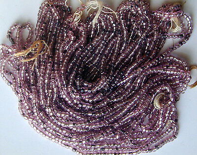 Vintage Antique Purple Seed Beads Silver Lined Mini Master Hank Last 1! SOLD OUT
