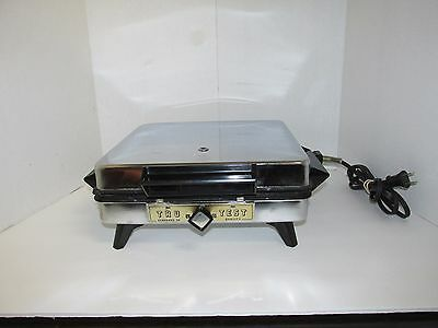 Vintage 1950's/60's Superior Electric Waffle Maker TRUTEST Square/Chrome