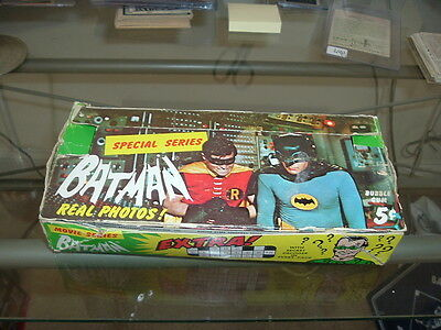 1966 Topps Batman TV Black Riddler Series  Empty Wax Pack Display Box Special
