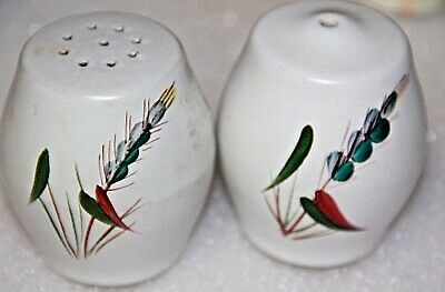 vintage salt and pepper shakers pair traditional Made In England pottery pair