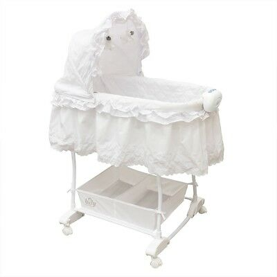 Bily Rocking Bassinet - White Eyelet