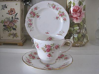 Pretty Vintage Duchess June Bouquet Fine Bone China Trio