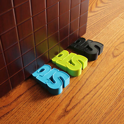 Great Stopper Silicone STOP Shaped Decor Door Stop Wedge Protection Baby Nice