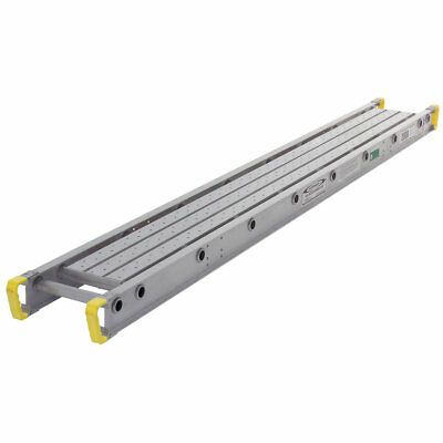 """Werner 2020 - 20' L x 12"""" W Aluminum Decorator Plank / Stage - 250lb rated"""