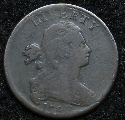 1798 Penny Draped Bust Cent 1 C - Nice Coin, Free Shipping  (5247)